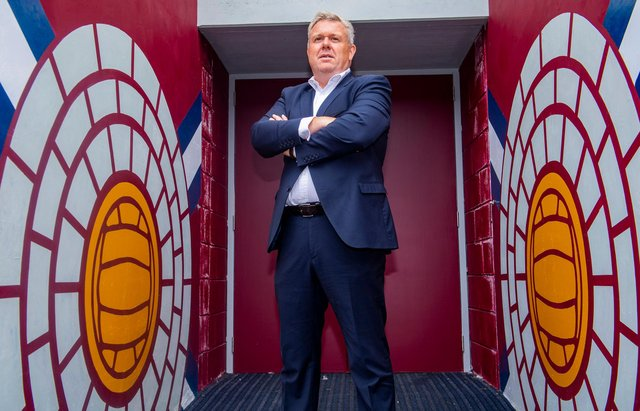 Hearts CEO Andrew McKinlay has spoken about online abuse.