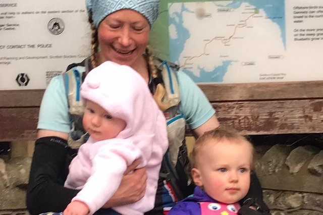 Anna with her two children - Kit, 2, and Ella, nine months picture: supplied