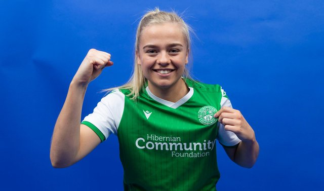 Amy Muir was on target for Hibs against Hearts. Picture: SNS