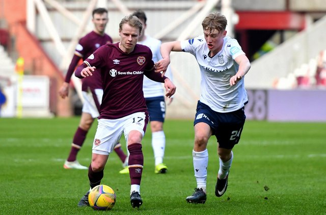 Gary Mackay-Steven missed a sitter before laying on what proved to be the clinching goal in the win over Dundee. Picture: SNS