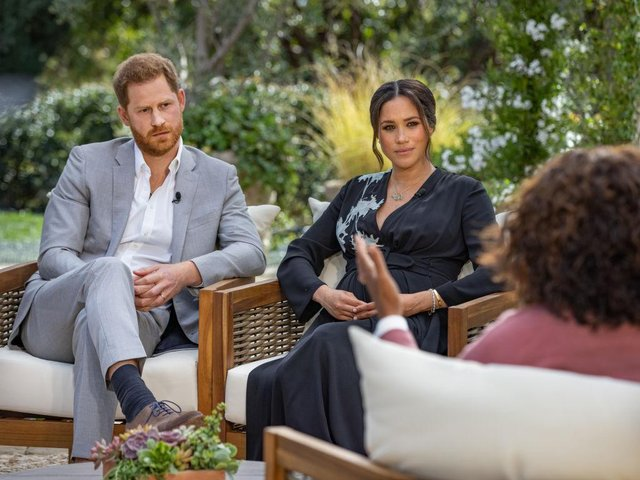 The Duke and Duchess of Sussex have plunged the monarchy into a crisis, accusing an un-named royal of racism, suggesting the family were jealous of Meghan and revealing how she contemplated taking her own life while pregnant. (Joe Pugliese via Getty Images)