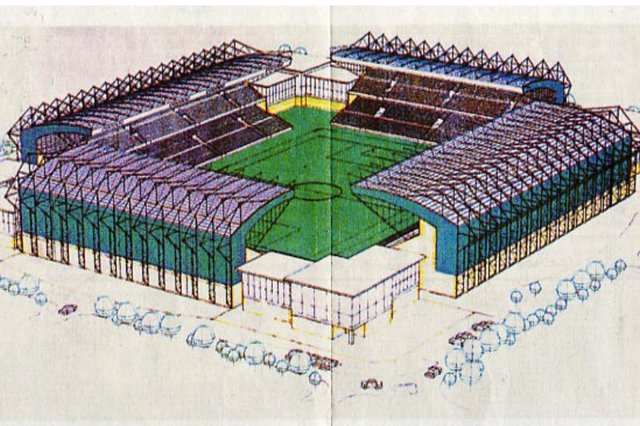 An artist's impression of the proposed new ground at Straiton