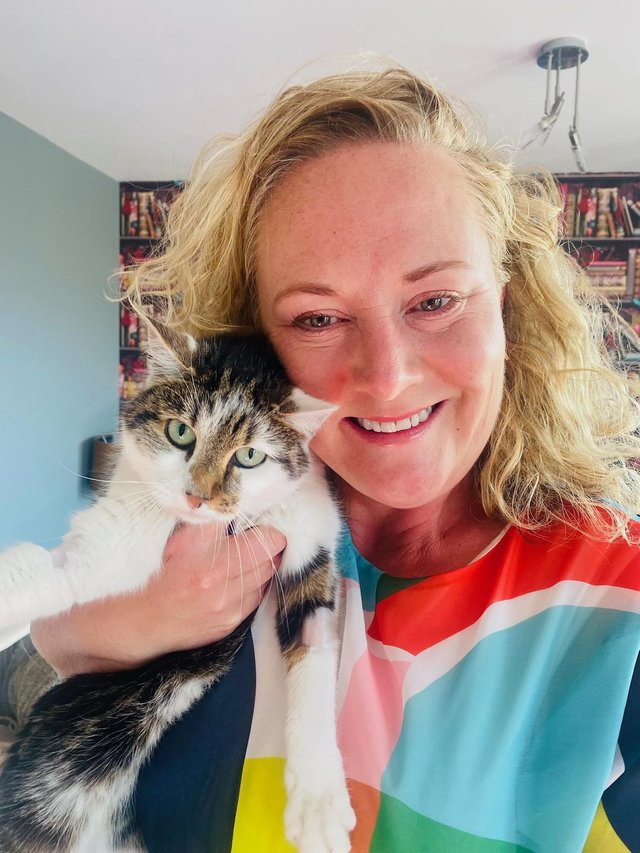 """Julia Kerr is """"over the moon"""" to have her pet safe at home."""