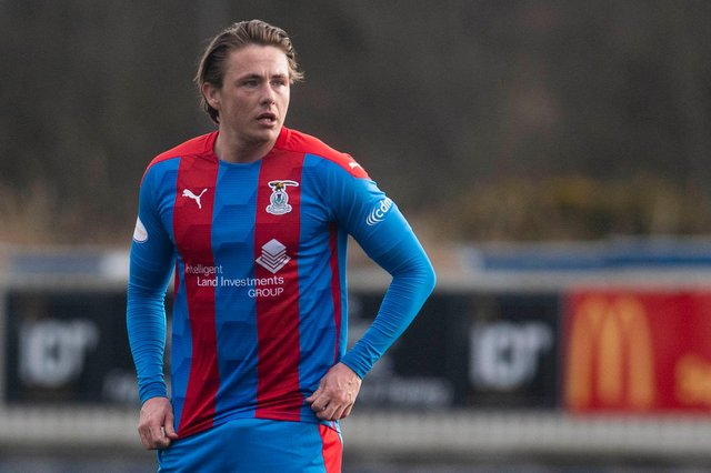 Hibs midfielder Scott Allan made his Inverness debut in the 1-0 win over Arbroath on Saturday following his loan move (Photo by Craig Foy / SNS Group)