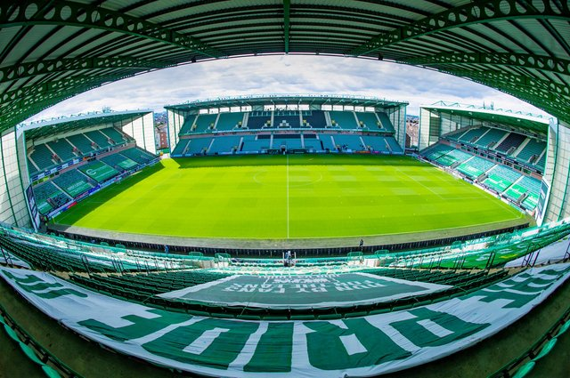 A general view of Hibs' Easter Road stadium