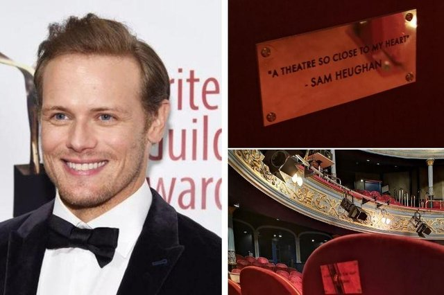 The Lyceum Theatre has dedicated a seat to Sam Heughan after fundraiser in his name raises over £50,000.
