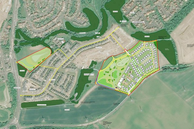 Overall, the site at Burdiehouse to the south of Edinburgh will comprise hundreds of new homes.