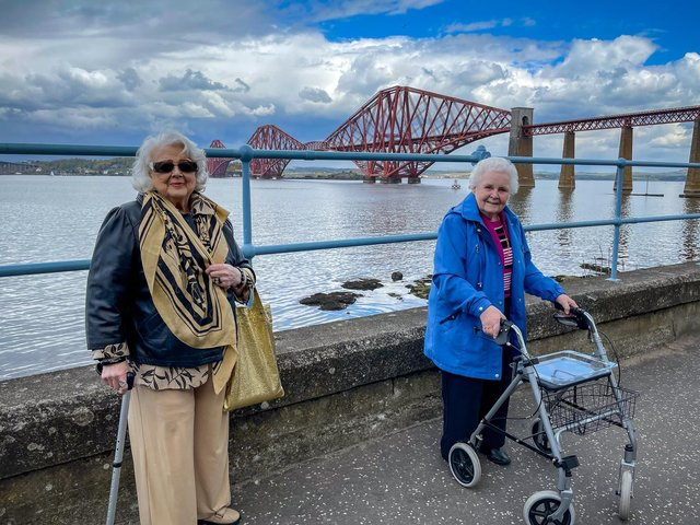 Dorothy and Morna on their first road trip in more than a year