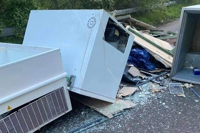 Latest flytipping on the road into Dalkeith Country Park from Old Craighall (Photo: Stuart Thomson).