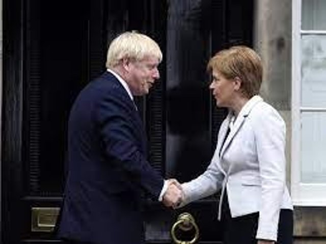 Nicola Sturgeon and Boris Johnson are divided over the question of a second Scottish independence referendum (Picture: PA)