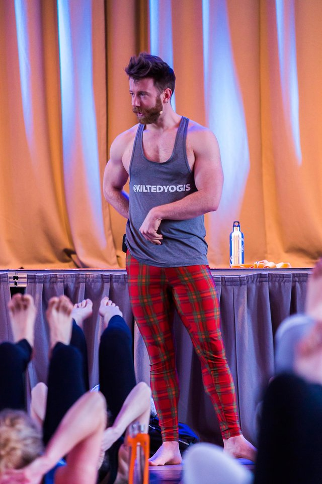 Finlay Wilson of the Kilted Yogis said the hybrid format of physical and virtual teaching seems set to stay for the foreseeable