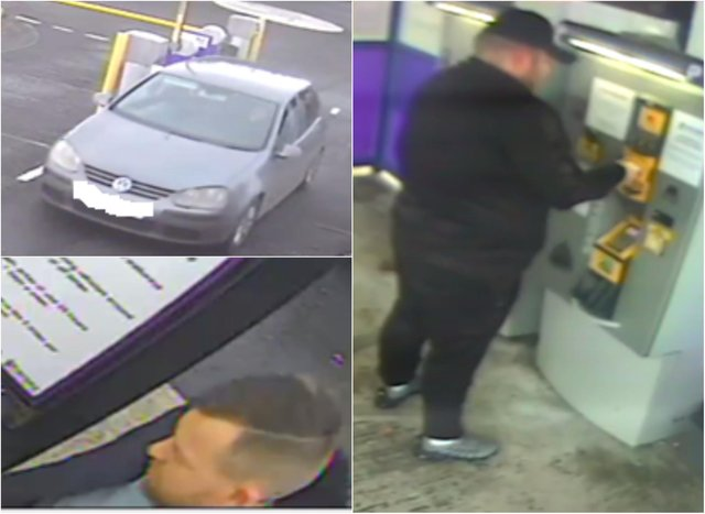 British Transport Police want to speak with two men in connection with the theft. Pic: BTP