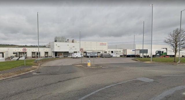 Tesco distribution centre in Livingston picture: Google maps