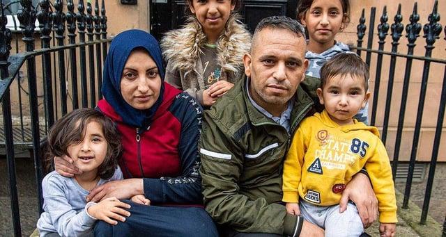 Basama Hamaedh with husband Azzam Al Hussain and children Fatima, Hoda, Aisha and Abbas