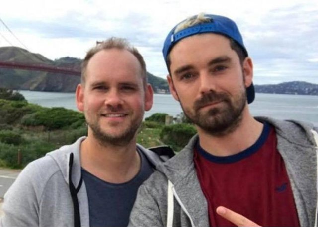 Richard Dyson, left, and Simon Midgley died in the fire at Cameron House.