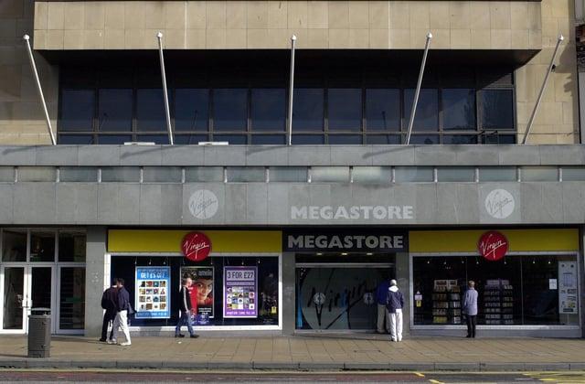 Virgin Megastore on Princes Street.