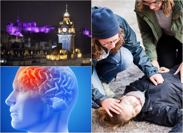 Buildings across Scotland will be lit up tonight to mark Purple Day, an international effort to raise awareness about epilepsy. Credit: Epilepsy Scotland