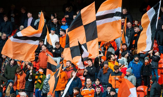 Two Dundee United fans have raised nearly £10,000 to help pay for the cub's legal fees. Picture: SNS