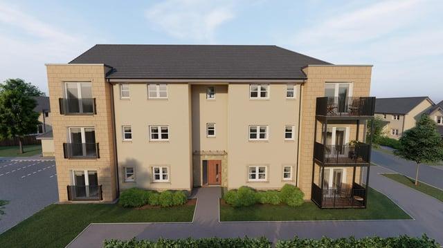 Final flats released at Uphall Station Village development. Pic: Dundas Estates.