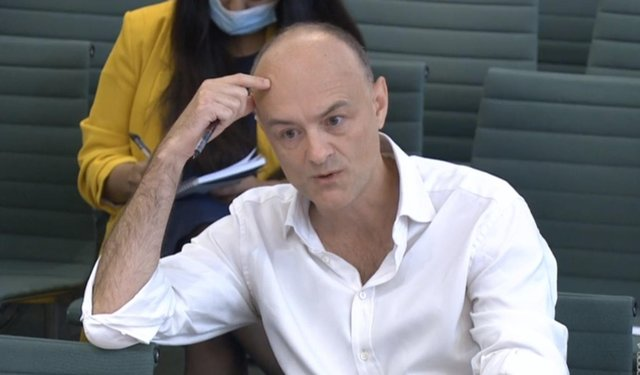Dominic Cummings claimed the UK government made serious mistakes over the transfer of hospital patients to care homes (Picture: House of Commons via PA)