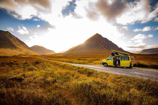 Travellers are being urged to behave responsibly as lockdown eases and many hit the road for a Scottish adventure