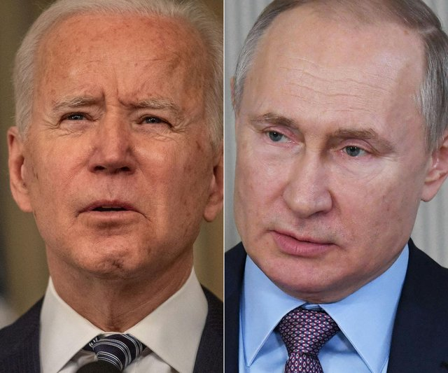 """US president Joe Biden accused Vladimir Putin of being """"a killer"""", who """"doesn't have a soul"""" and said the Russian president """"would pay the price"""" for attempting to meddle in November's presidential election. (Pic: Getty)"""