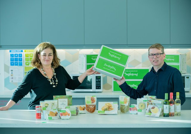 From left: Adrienne MacAulay, founder and head of product, with CEO Kevin Dorren. Picture: Sandy Young.