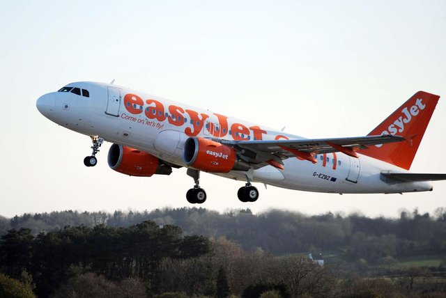 The incident happened on an easyjet flight. Picture: PA