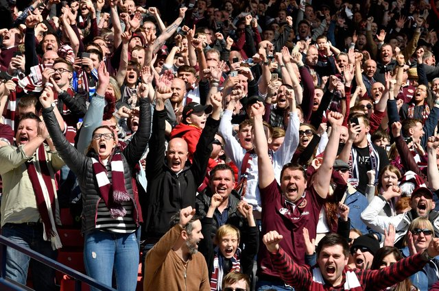 Hearts fans haven't watched their team in the flesh for a year.