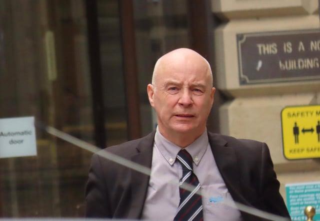 Predator: pervert coach William Lothian arriving at court