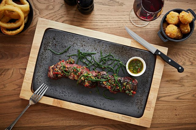 Bar + Block's spiral steak