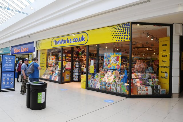 The Works distinctive stores are a familiar sight on Scottish high streets and in shopping centres. Picture: Michael Gillen