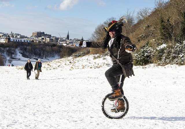 Take a look at the weird and wonderful thing Edinburgh locals used to enjoy the snow on Arthur's Seat.