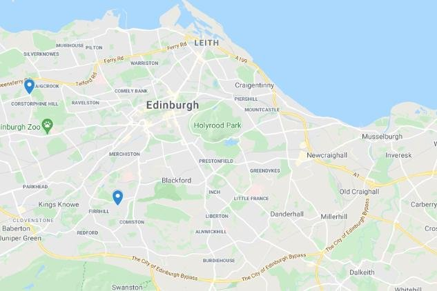 Map showing two of the bus stops. Pic: google