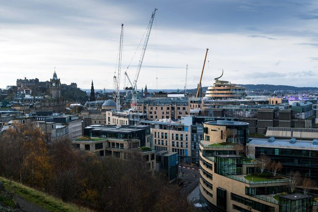 Work taking place on Edinburgh's new St James Quarter, the first phase of which is due top open this summer. Picture: Ian Georgeson Photography