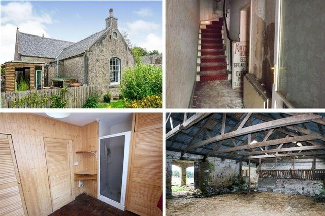 Take a look the top nine Scottish homes with renovation potential.