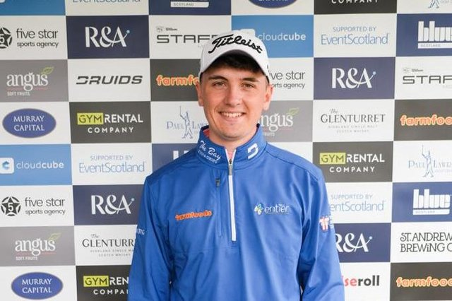 Sam Locke is bidding for his second success of the season on the Tartan Pro Tour after winning the Barassie Links Classic last month. PIcture: Tartan Pro Tour