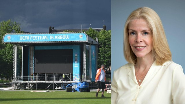 """Linda Bauld, professor of Public Health from Edinburgh University said that Glasgow's fan zone for the Euros 2020 is """"definitely not without risks."""""""