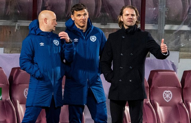 Robbie Neilson made a system alteration for the match with Alloa. Picture: SNS