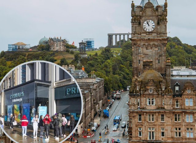 Which shops are opening on Edinburgh's Princes Street on April 26?