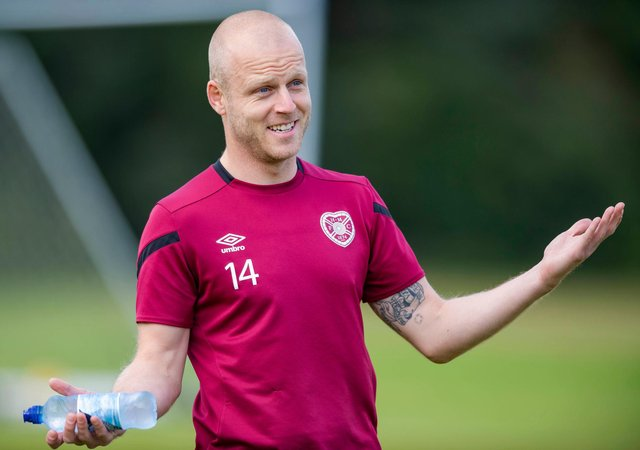 Steven Naismith is stepping up his return to full fitness.