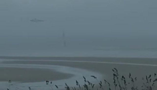 A coastguard helicopter was spotted circling above Cramond Island on Sunday evening after a member of the public raised concern for two people in a kayak at sea in the bad weather.