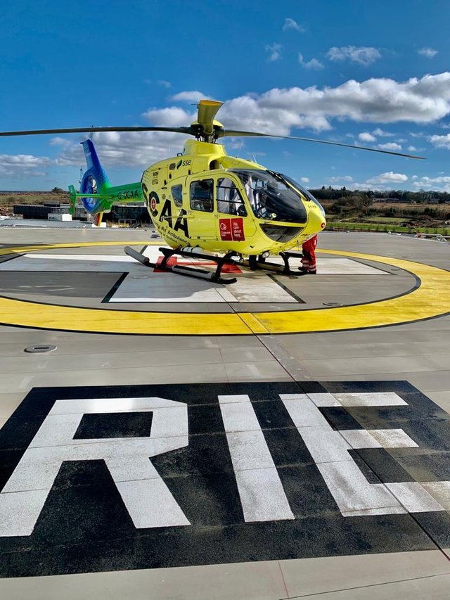NHS Lothian's new helipad.
