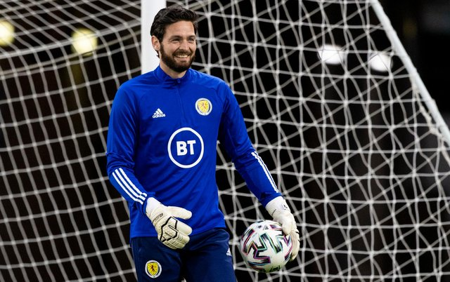 Craig Gordon was back between the sticks for Scotland in the national team's last game against the Faroe Islands. Picture: SNS