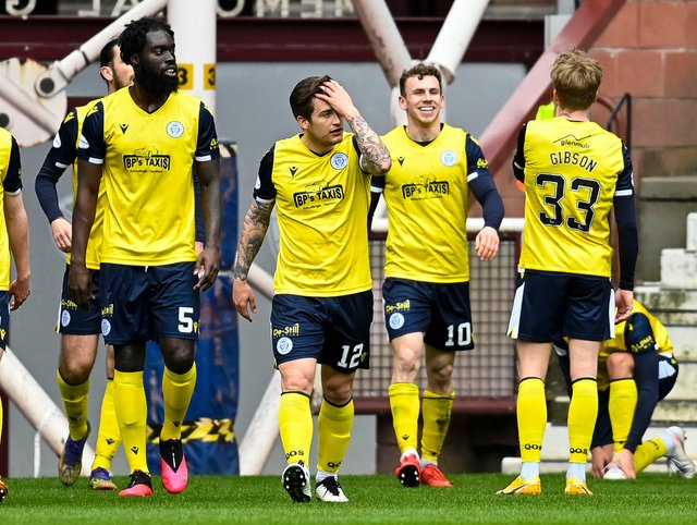 Connor Shields was the hero for Queen of the South at Tynecastle on Saturday. Picture: SNS
