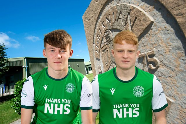 Josh O'Connor, left, and Jack Brydon hit doubles as Hibs recorded an emphatic win against Celtic