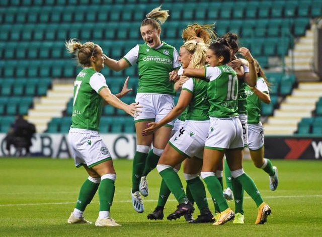 Homegrown talent is important to Hibs Ladies and makes up a significant section of Dean Gibson's first-team squad (Photo by Ross MacDonald / SNS Group)