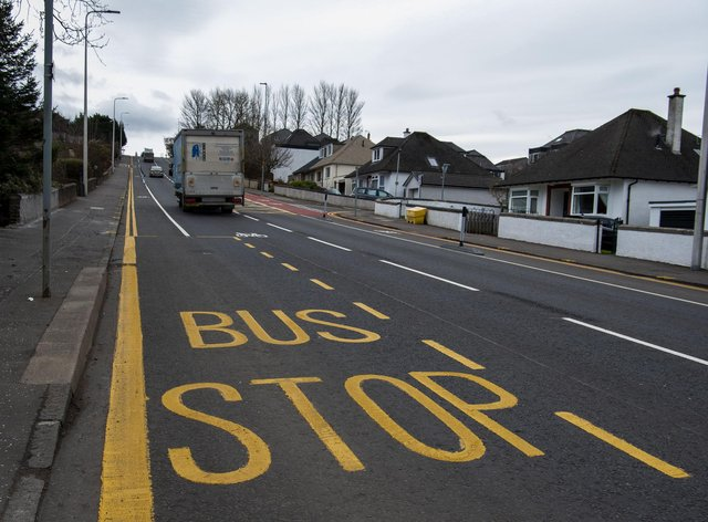 The newly painted bus stop was removed from plans and painted in error