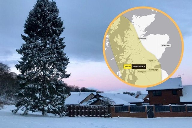 Another yellow warning issued as temperatures plummet to -13C in Edinburgh overnight.