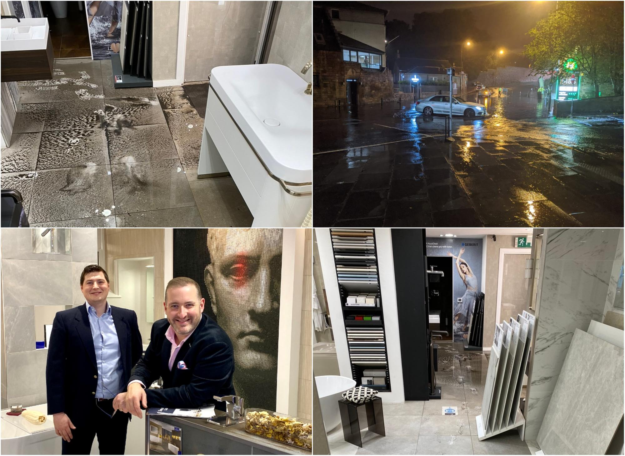 'Absolute despair' - Edinburgh luxury bathroom store owner left with 'tens of thousands of pounds' worth of flood damage